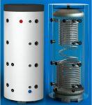 PT 500CF Puffertároló szigeteléssel, 2 db acél csőkígyóval
