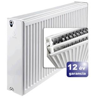 ERFER import radiátor 33K(DKEK) 900/500 acéllemez lapradiátor + tartó - szett