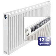ERFER import radiátor 22K(DK) 500/400 acéllemez lapradiátor + tartó - szett