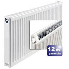 ERFER import radiátor 22K(DK) 300/1200 acéllemez lapradiátor + tartó - szett