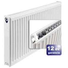 ERFER import radiátor 22K(DK) 400/1200 acéllemez lapradiátor + tartó - szett