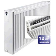 ERFER import radiátor 33K(DKEK) 600/500 acéllemez lapradiátor + tartó - szett